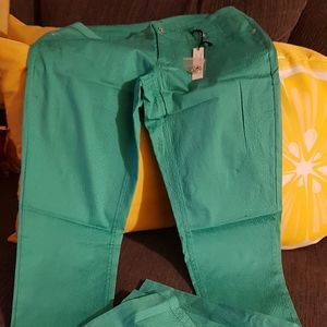 Colored pants for summer .